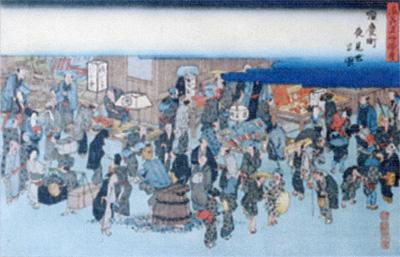 江戸時代の大阪の町並み